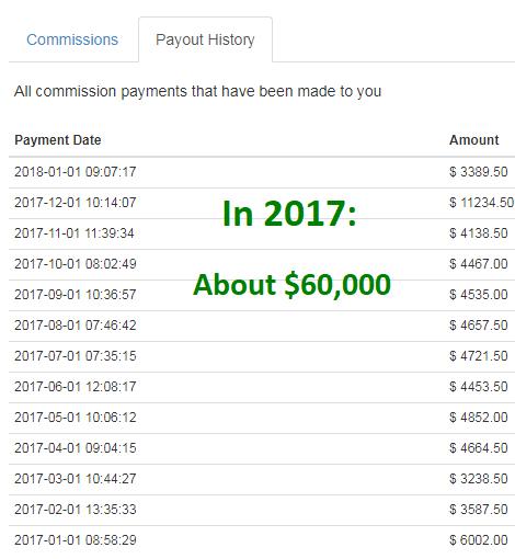 2017 affiliate income report