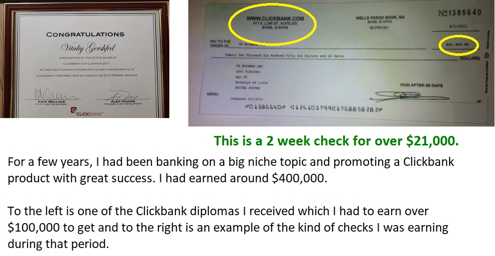 affiliate income reports for clickbank