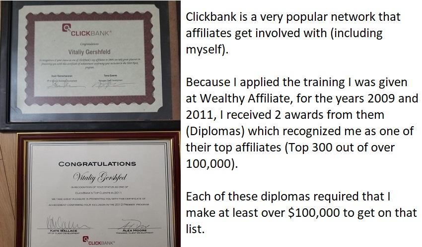 clickbank affiliate success diplomas