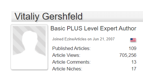 vitaliy gershfeld ezinearticles page