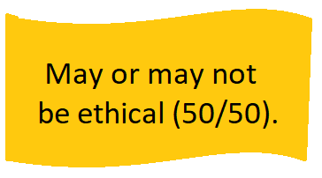 yellow flag ethical