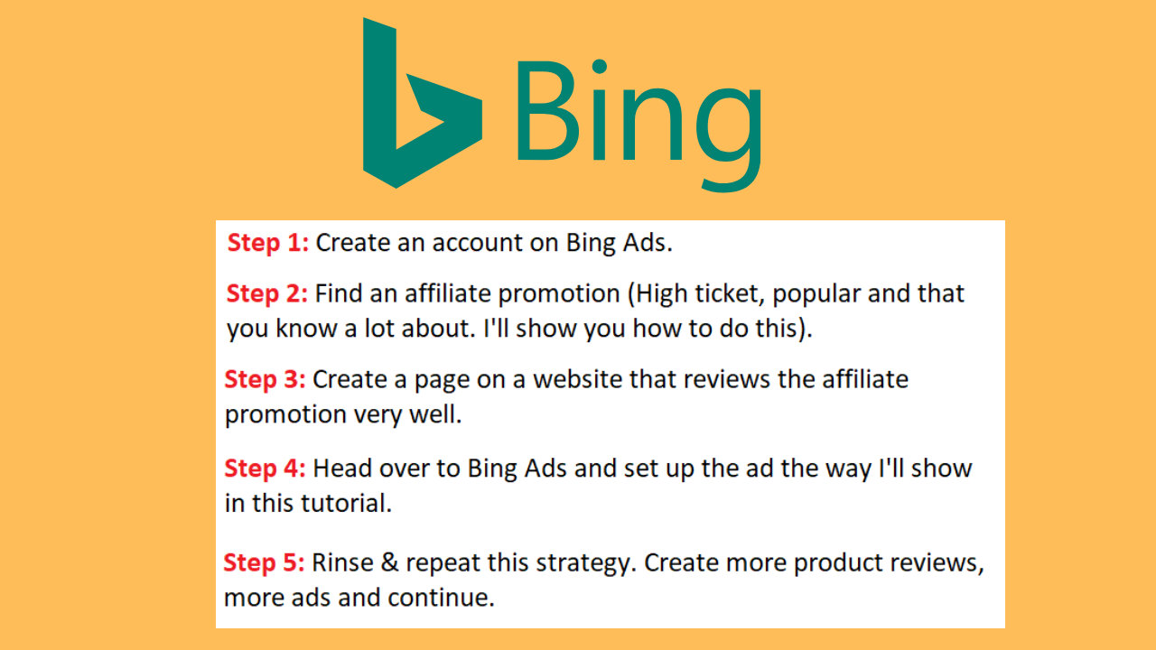bing ads affiliate marketing strategy