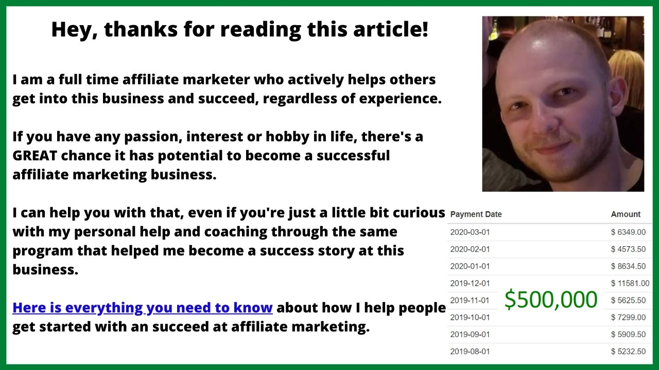 becoming an affiliate marketing success case study