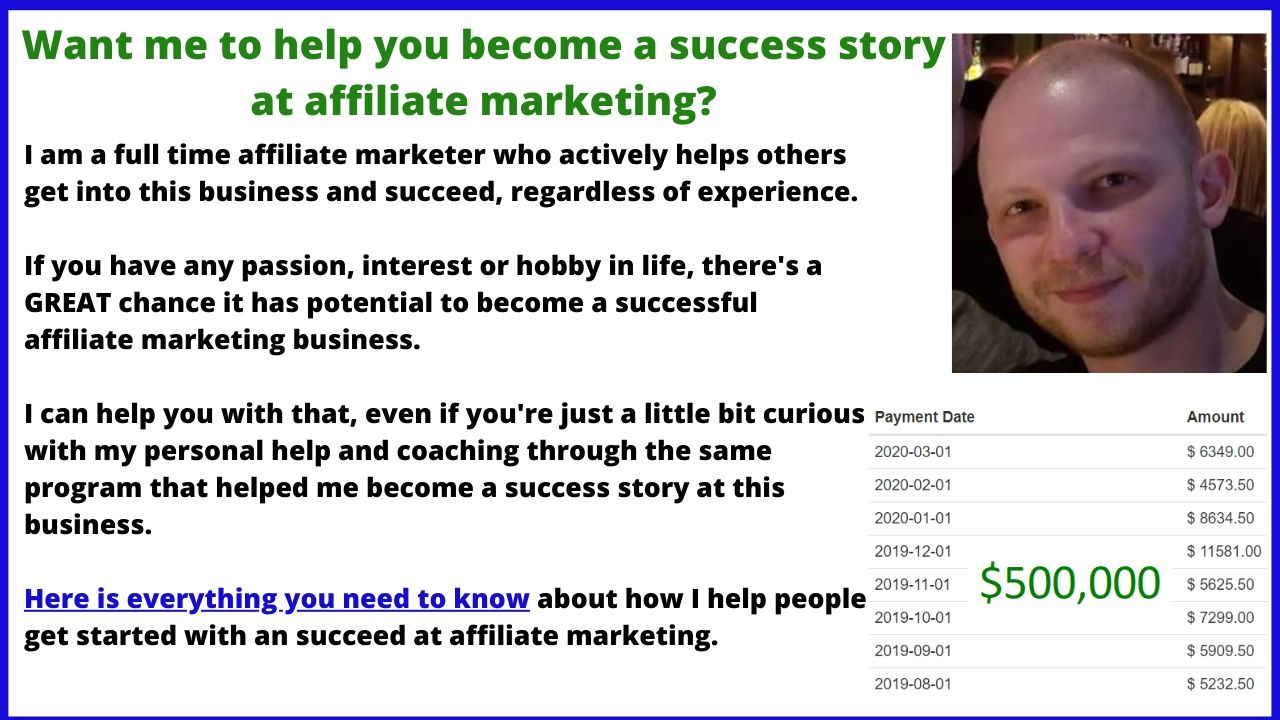 assistance with affiliate marketing