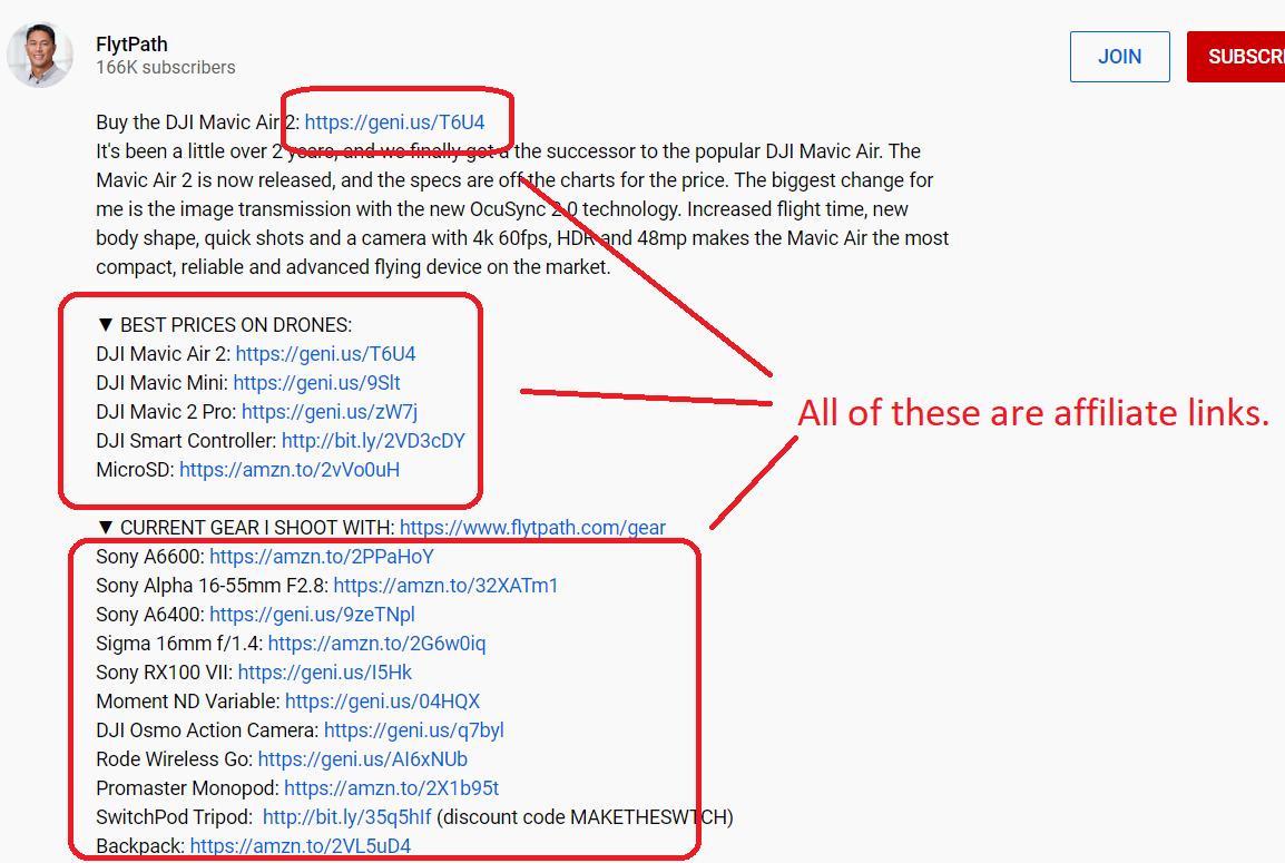 flytpath affiliate links