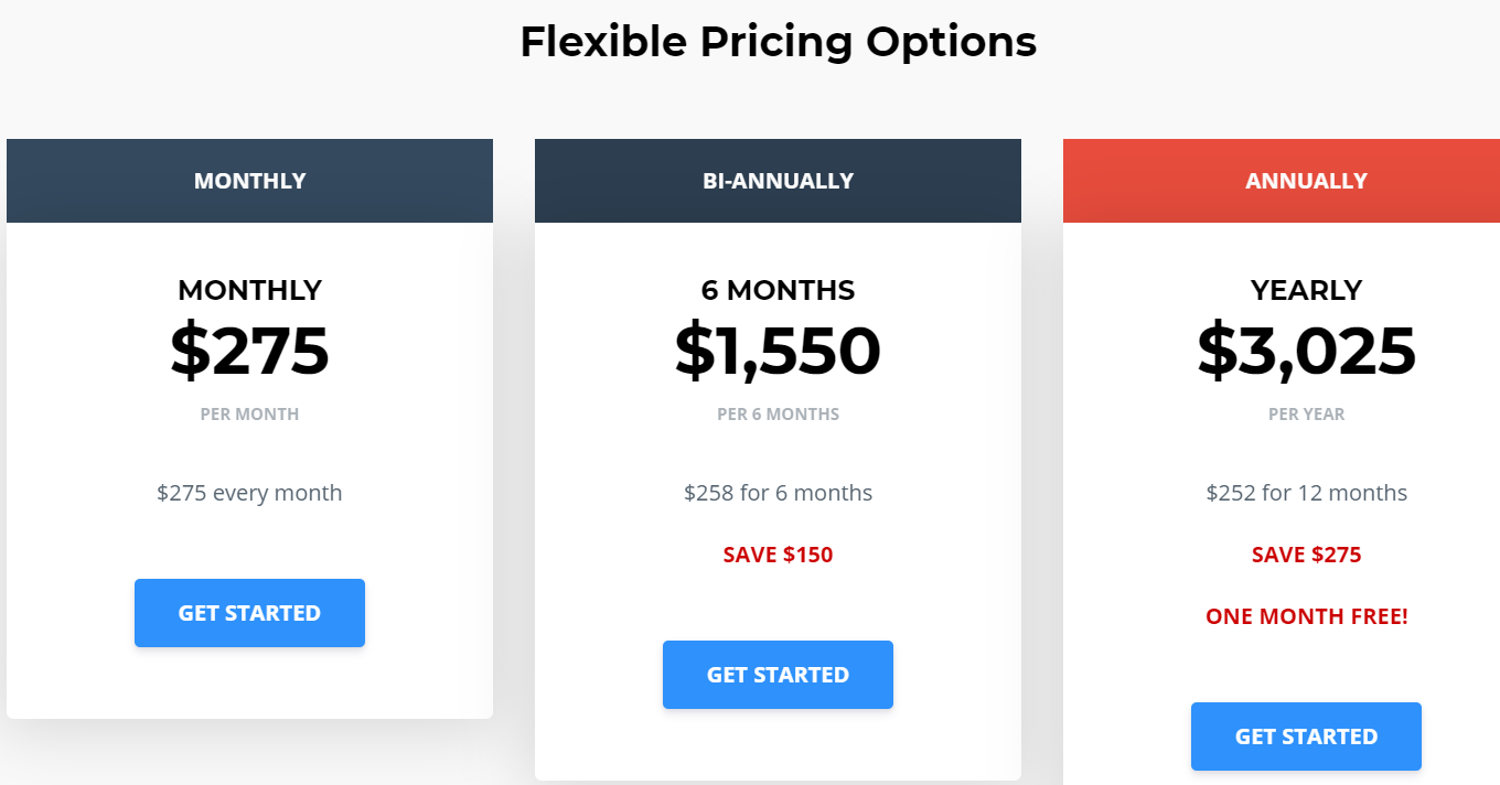 jay affiliate coaching pricing chart