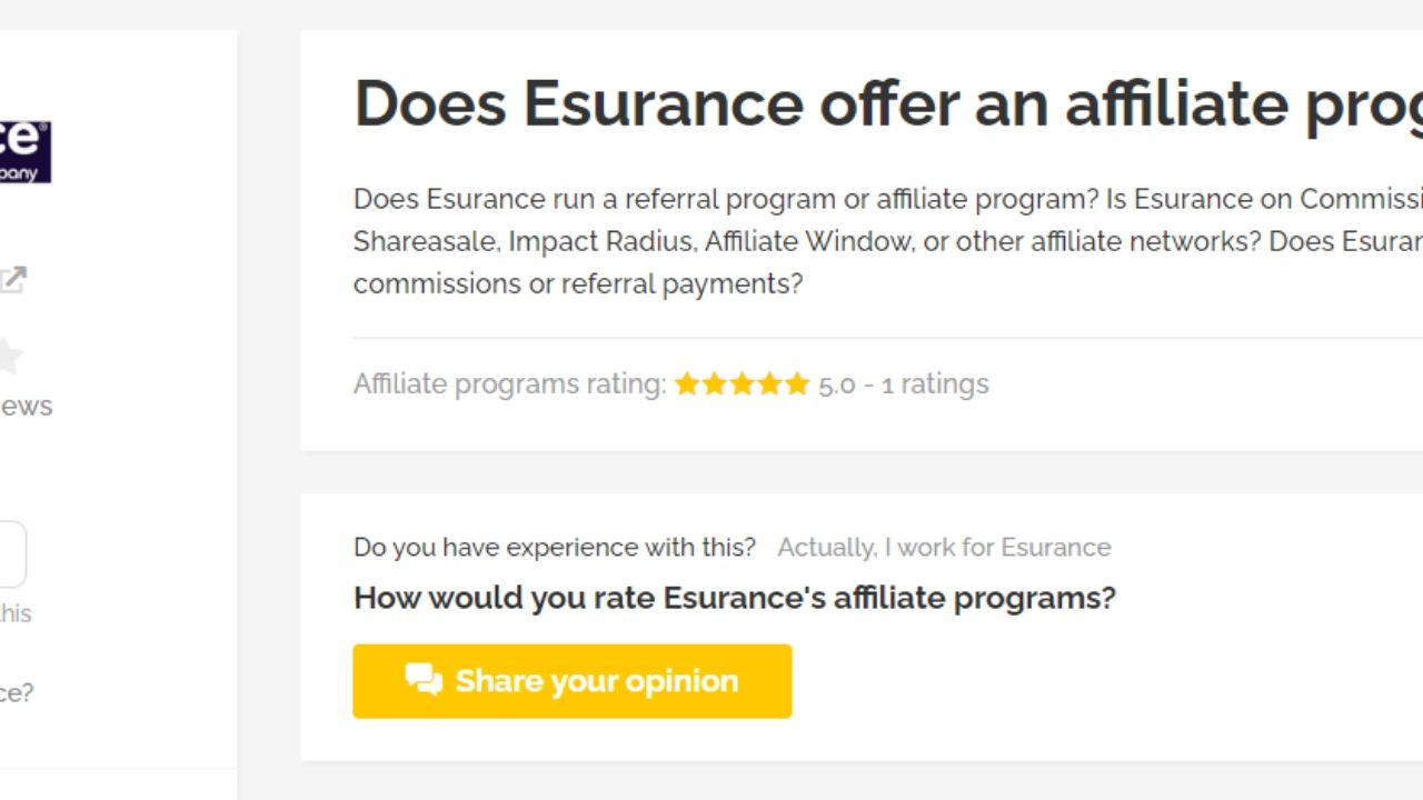esurance car insurance affiliate program