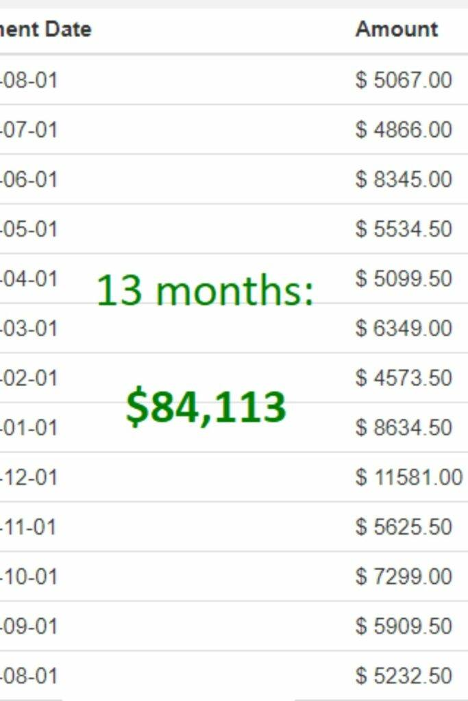 how much money I made in affiliate marketing