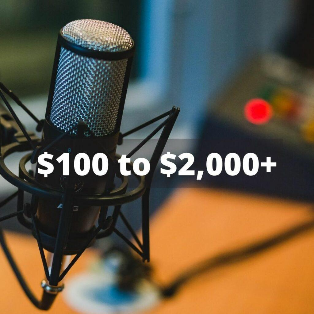 how much does it cost to do affiliate marketing with podcasts