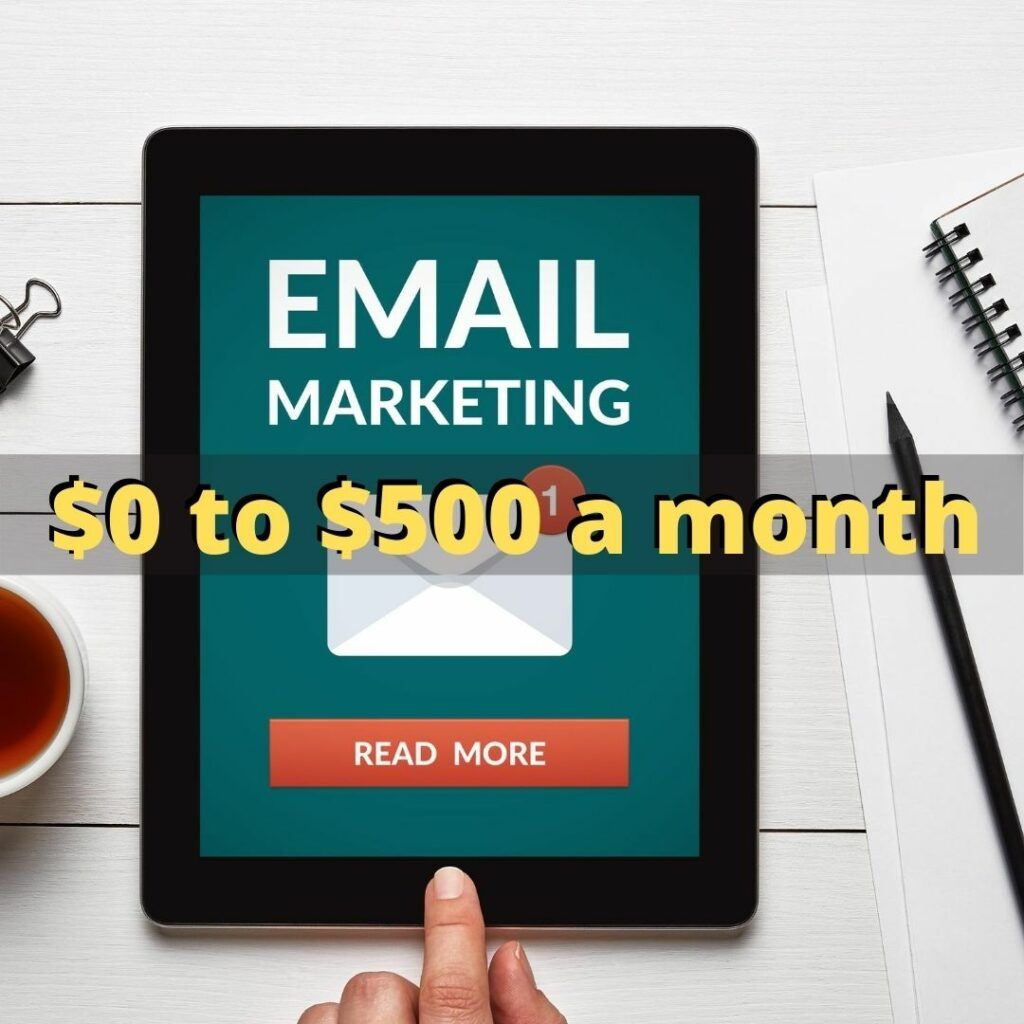 how much does it cost to start affiliate marketing with email marketing