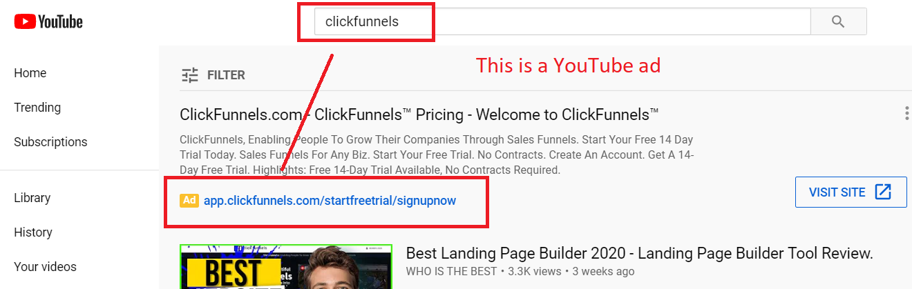 how to promote clickfunnels on youtube ads