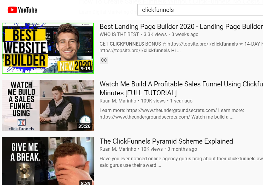 how to promote clickfunnels through YouTube