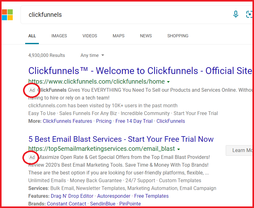 how to promote clickfunnels through bing ads