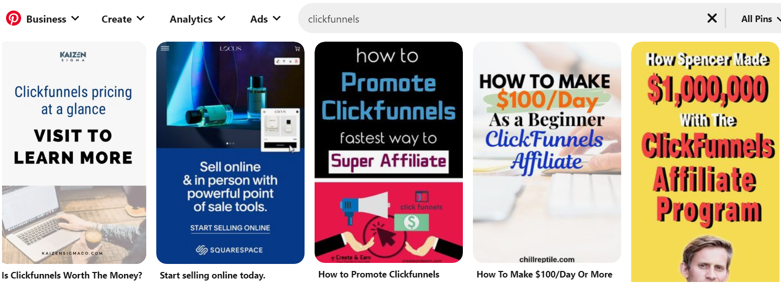 how to promote clickfunnels through pinterest