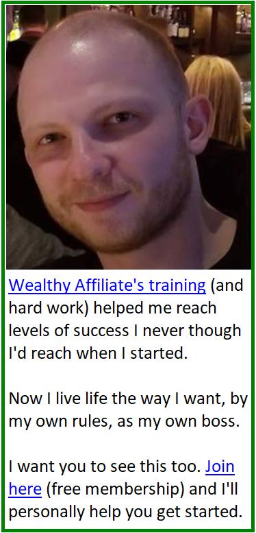 wealthy affiliate testimonial