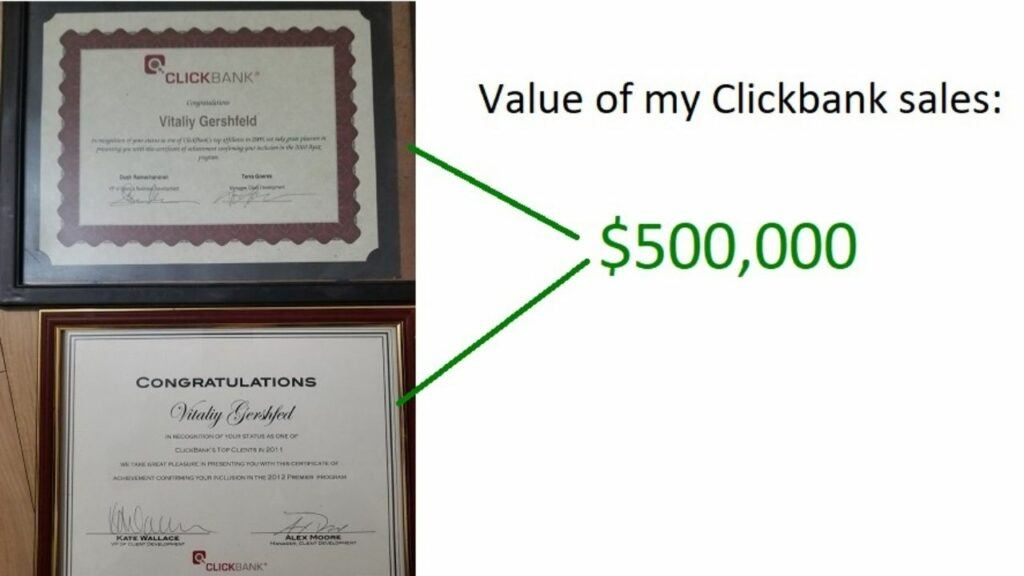 how much money I made with clickbank as an affiliate marketer