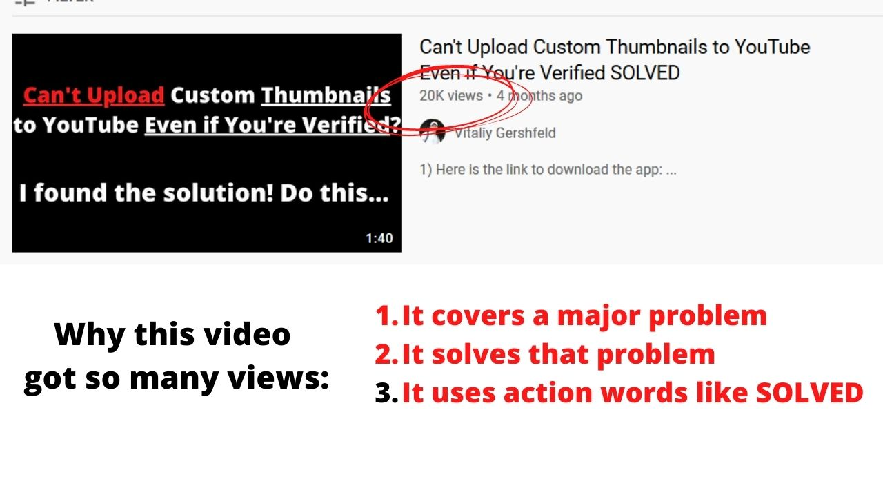 problem solving youtube videos get a lot of views