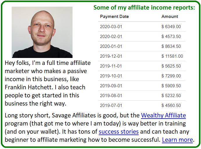 wealthy affiliate vs savage affiliates alternative