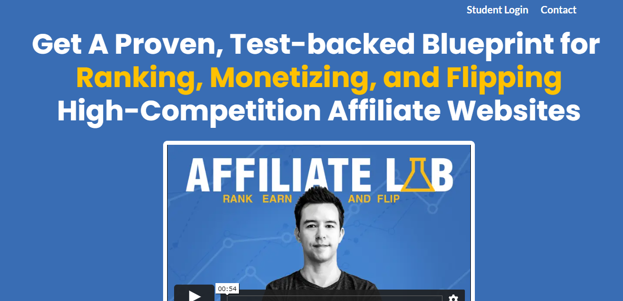 affiliate lab review screenshot