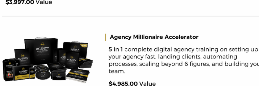 entre institute agency millionaire accelerator screenshot