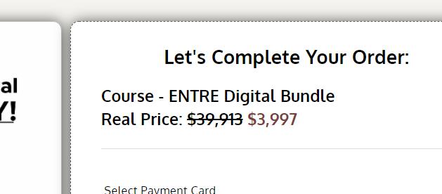 entre institute pricing