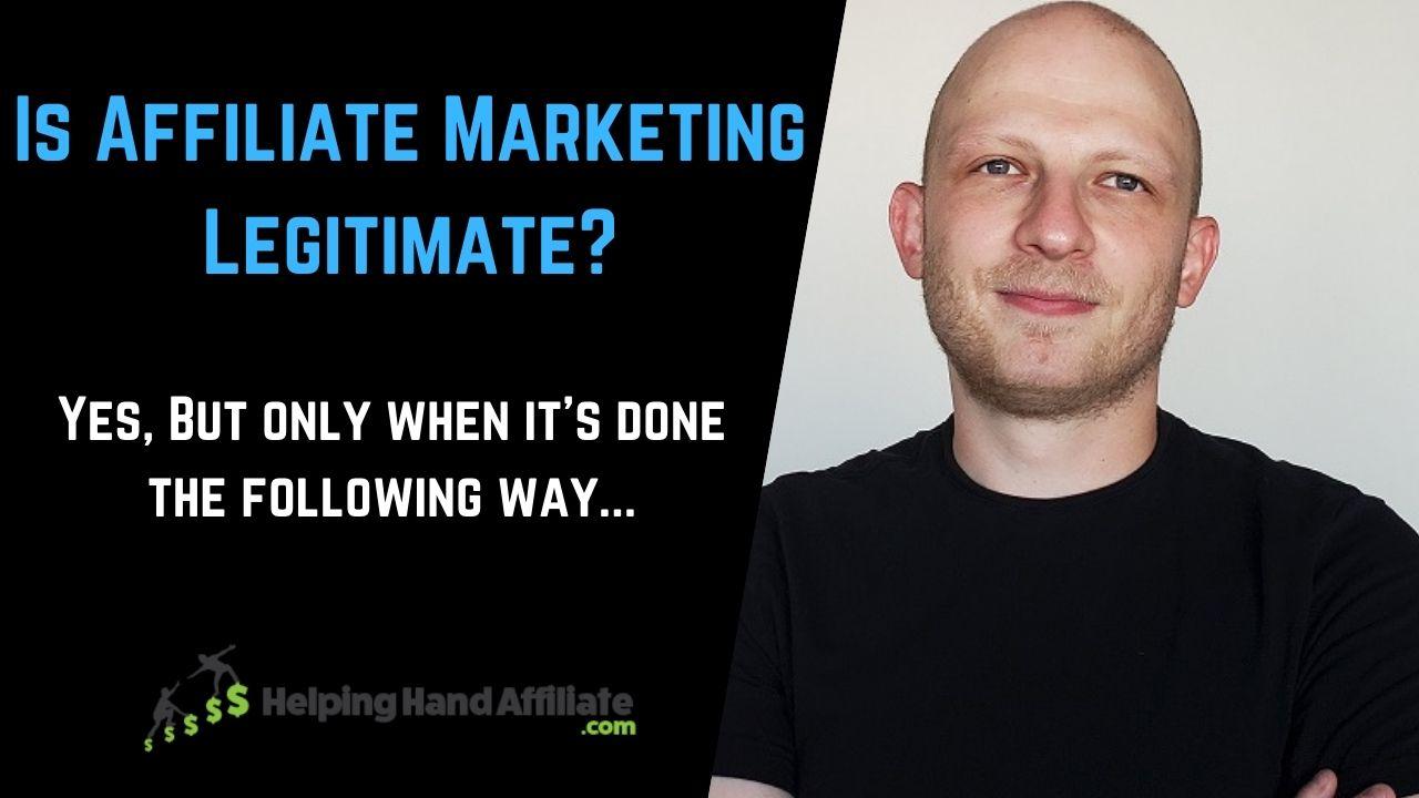 is affiliate marketing legitimate