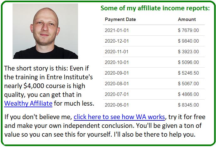 wealthy affiliate vs entre institute
