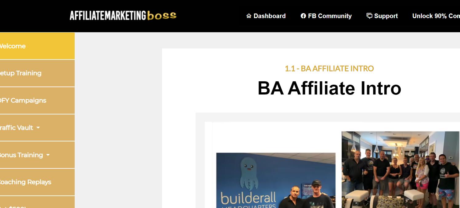 affiliate marketing boss chad b training review
