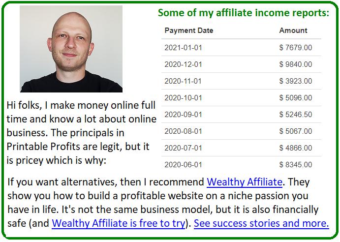 printable profits alternative