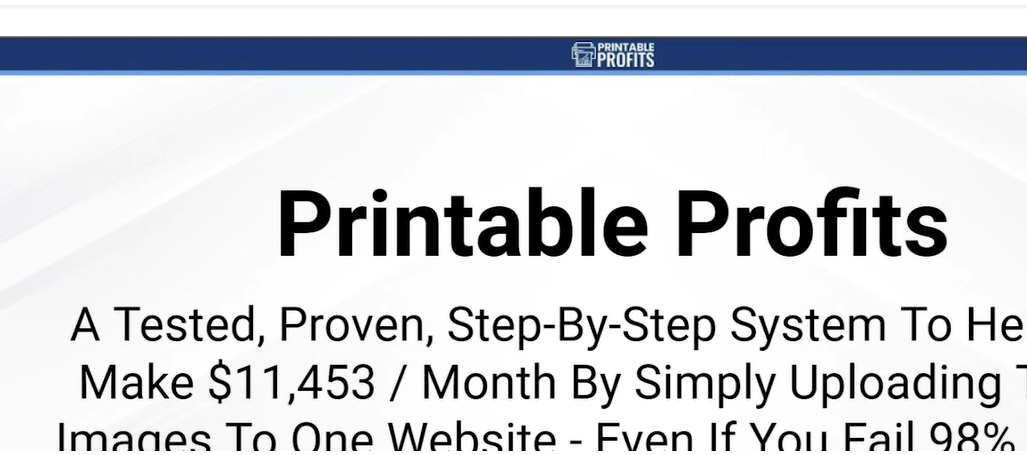 printable profits review