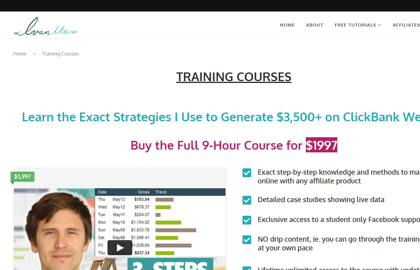 ivan mana courses screenshot