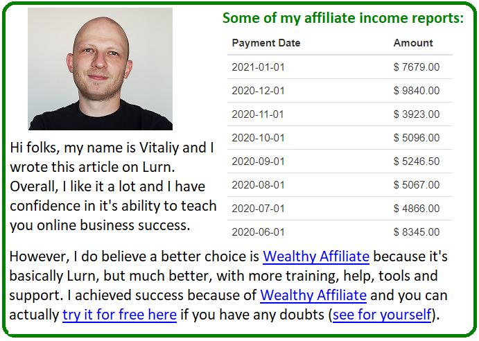 lurn alternative wealthy affiliate
