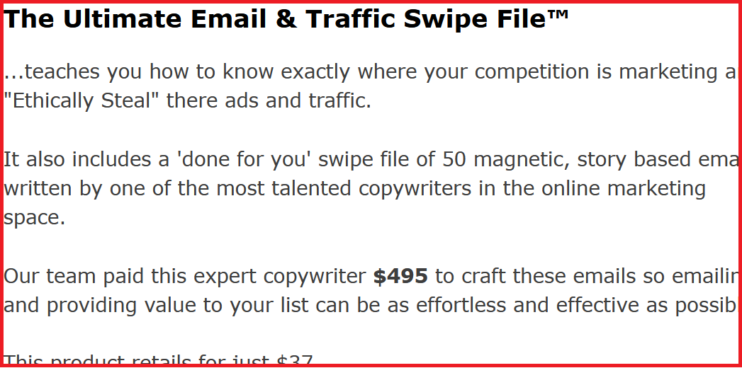 home business academy ultimate email and traffic swipe file