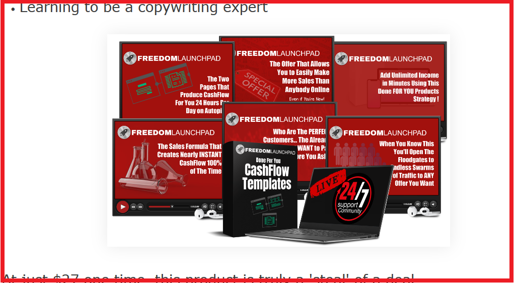 the home business academy freedom launchpad screenshot