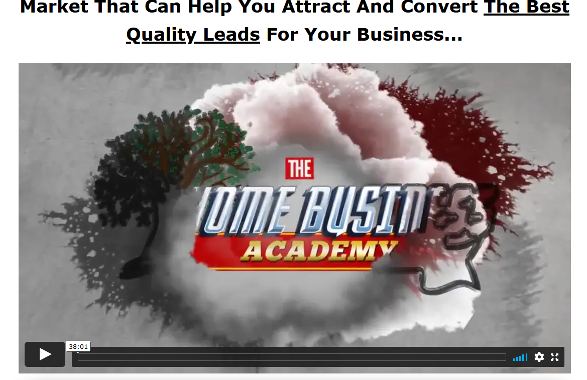 the home business academy review screenshot