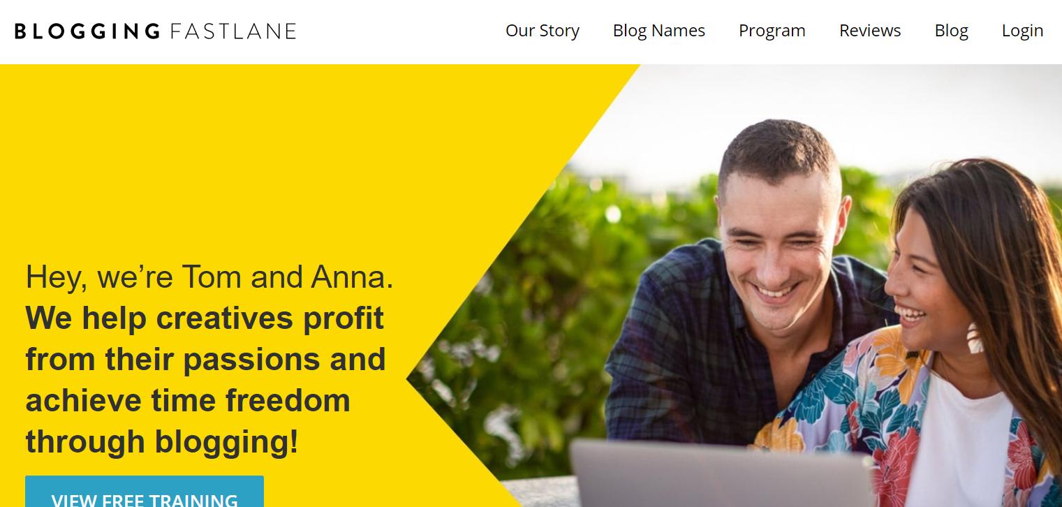 blogging fast lane tom and anna