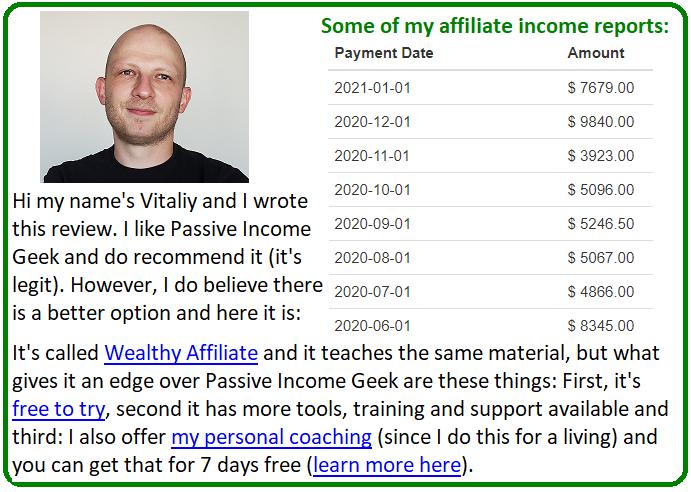 passive income geek alternative