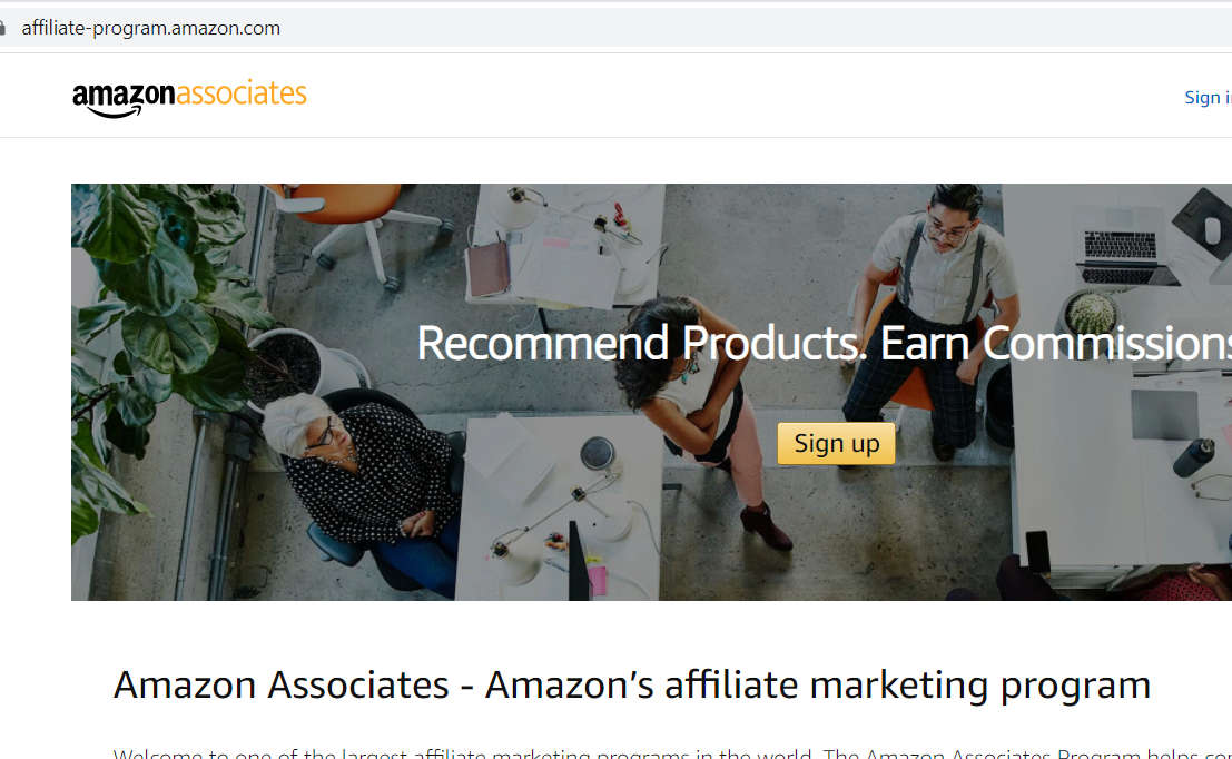 amazon associates outdoor gear affiliate program