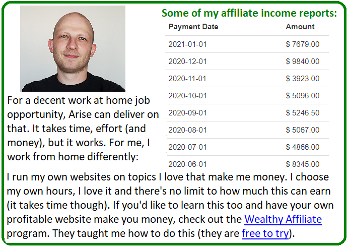 arise work from home alternative